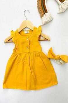 Momsbrand - Bantlı Müslin Elbise