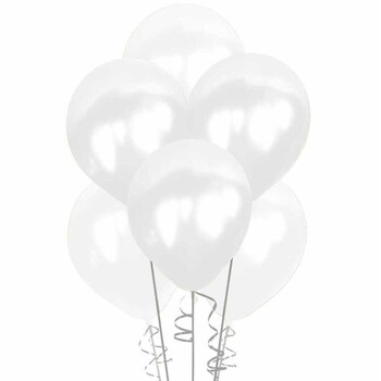 - Beyaz Krom Balon 10'lu Paket
