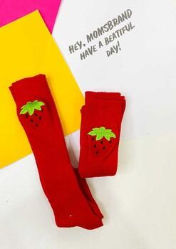 Momsbrand - Çilek Nakışlı Çorap