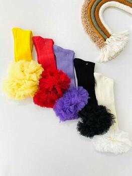 Momsbrand - Dizaltı Tüllü Çorap