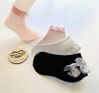 Momsbrand - Fiyonklu File Soket Çorap