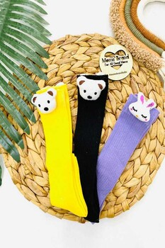 Momsbrand - Happy Bears Dizaltı Çorap