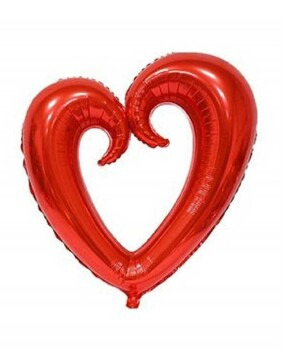 Momsbrand - Helyum Kalp Balon 100 Cm