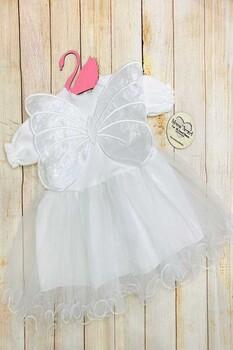 Momsbrand - Kelebek Elbise - Beyaz