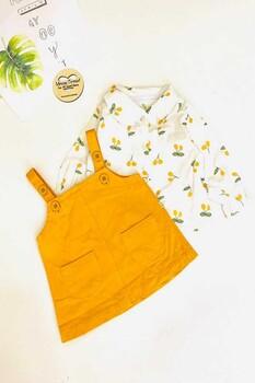 Momsbrand - Kirazlı Elbise -Sarı