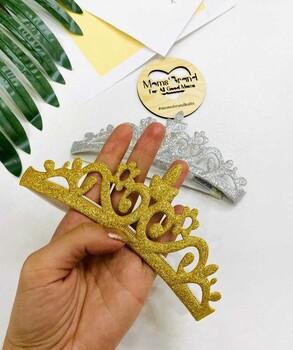 Momsbrand - Kraliçe Taç- Lastikli