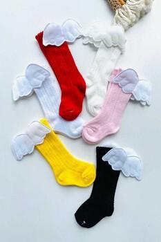 Momsbrand - Melek Kanatlı Merserize Renkli Çorap