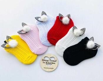 Momsbrand - PonPon Soket Çorap