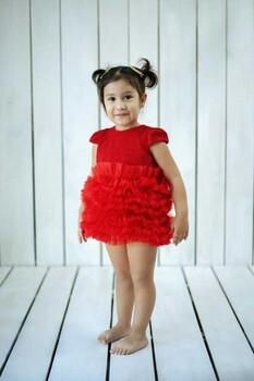 Momsbrand - Prenses Elbise - Kırmızı