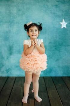 Momsbrand - Prenses Elbise - Pudra