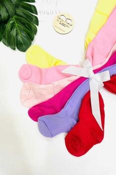 Momsbrand - Renkli Basic Külotlu Çorap