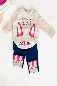 Momsbrand - Sevimli Tavşan Kız Takım